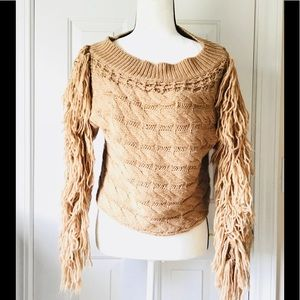 Fringed Cable Sweater By Forever 21